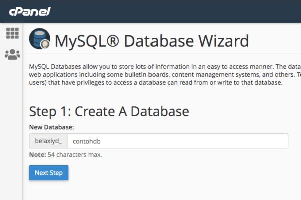 Membuat Database MySQL di cPanel