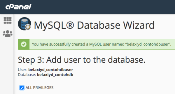 Memberikan privileges ke user MySQL