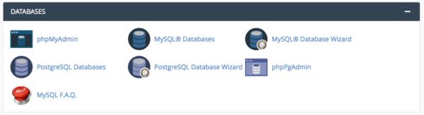 Menu MySQL Database di cPanel